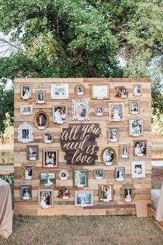 outdoor wedding decoration ideas with wooden pallets #wedding #outdoorweddings #weddingideas #weddings