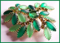 Vintage JULIANA D Forest Green Lime Green Brooch by BrightgemsTreasures, $34.50