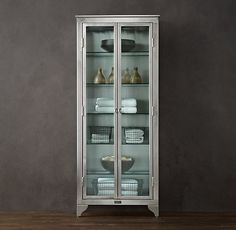 1930's laboratory stainless steel storage cabinet