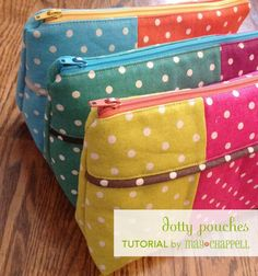 Dotty Pouches TUTORIAL | may chappell | Bloglovin'