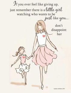 Be an example for your children, an example of understanding and love