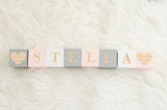DIY Name Blocks | http://www.letsplayhouseblog.com/2016/09/12/diy-name-blocks/  DIY baby name blocks. personalized nursery decor