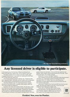 1970 Pontiac Firebird Trans Am advertisement