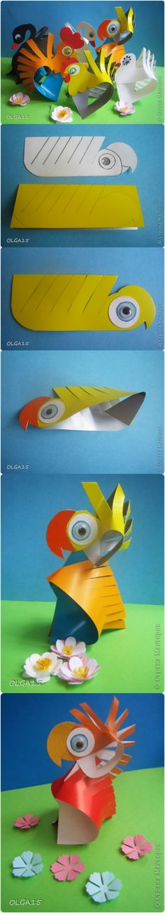 DIY Cute Paper Animal Crafts -