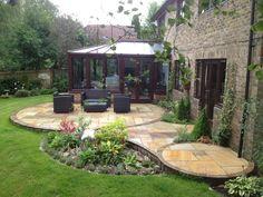 Indian stone patio design
