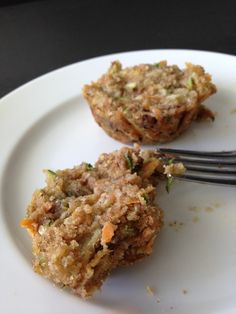 Coconut Carrot Zuchini Muffins.  Want to get more vegetables in your diet? This muffin recipe is perfect for doing just that and you won't even notice they are there!