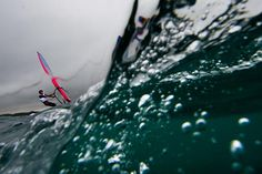 Brazil's Ricardo Santos practices before starting the RS:X men class race at the London 2012 Summer Olympics
