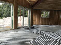 Installing floor heating in the house. Construction, Windows, Flooring, House, Building, Home, Wood Flooring, Homes, Ramen