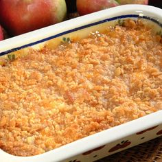 Baked Apple and Cheese Casserole is a delicious combination of cheddar cheese and apples. Great as a dessert or side dish. Ready in less than 1 hour.