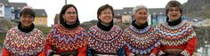 Women from Greenland in national costume.