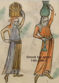 Detail from The Luttrell Psalter, British Library Add MS 42130 (medieval Moda Medieval, Medieval World, Medieval Crafts, Medieval Art, Medieval Costume, Medieval Dress, Medieval Fashion, Medieval Clothing, Medieval Manuscript