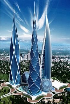 Skyscrapers by Russian architect Andrei Korotich. To date, Andrei created over 9000 different projects, which, he believes, can affect the development of