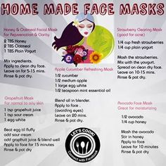 Home made face mask recipes