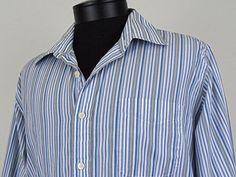 Lyle & Scott Scotland Dress Shirt Mens Large L Long Sleeve 100% Cotton  #LyleScott