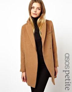 Image 1 ofASOS PETITE Exclusive Coat With Contrast Collar