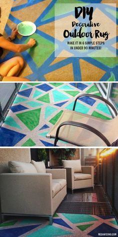 DIY: How to create a decorative outdoor rug in 90 minutes in five simple steps!
