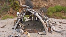 Beach Hut on the Sand, Nicholas Beach, Malibu Garden Bridge, California, Outdoor Structures, Beach, Seaside