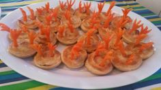 Mrs Twit's bird pies ... mini chicken pies with carrot feet ... for Roald Dahl party food fun.