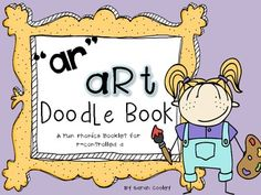 """ar"" art doodle book: fun with r-controlled vowel a Ar Reading, Reading Practice, Doodle Books, Doodle Art, Speech Therapy Activities, Reading Activities, Too Cool For School, School Stuff, Balanced Literacy"