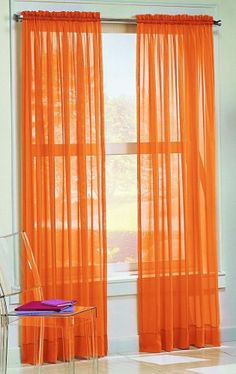 "Dreamkingdom - Solid Orange Sheer Curtains/Drape/Panels/Treatment 58""x84"" (Pack of 2) AHF,http://www.amazon.com/dp/B00AV2PUUM/ref=cm_sw_r_pi_dp_PxXBsb145K6KVSH5"