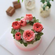 Korean cake designed