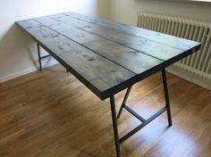 M&M renoverar - Trestle Table, Dining Table, Lerberg Ikea, Rustic Home Design, Diy Table, Ikea Hack, Diy Home Decor, Sweet Home, Furniture