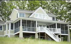 Lake Michigan cottage home exterior. www.cottagehome.com
