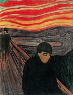 Le désespoir, par Edvard Munch