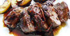 Receta de magret de pato con salsa de naranja y guanición de manzanas salteadas, una deliciosa receta con esta carne sabrosa y jugosa muy adecuada para una ocasión especial o celebración.