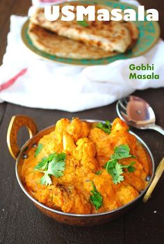 Gobhi Masala ~ Cauliflower cooked in a delectable and creamy tomato cashew cury sauce!