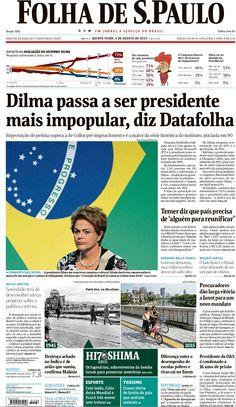 Jornais brasileiros do dia 06 de agosto de 2015