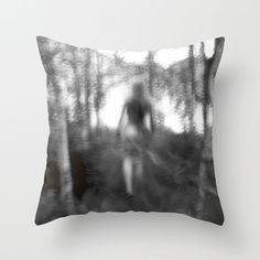 Mystic Nude Throw Pillow by julieart