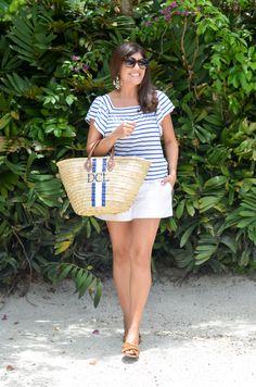 Favorite Summery Striped Top Beach Bag Beautifully Seaside Tops Fashion Photonantucketpersonalized