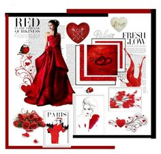 """""""I am so in red with you!!"""" by jaja8x8 on Polyvore featuring mode, By Lassen, Graham & Brown, Bomedo et Oliver Gal Artist Co."""