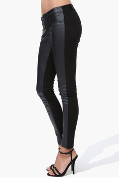 Great price for a pair of leather look jeans! $35