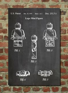 Lego Minifigure Poster, Lego Man, Lego Party, Lego Minifig, Lego Wall Art  PP41 by PatentPrints on Etsy https://www.etsy.com/listing/175446983/lego-minifigure-poster-lego-man-lego