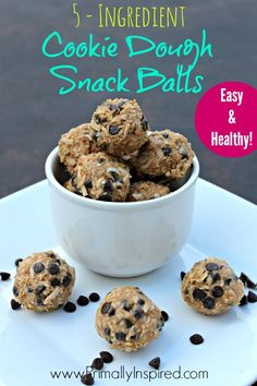 These things are so good! And healthy! Cookie Dough Snack Balls from Primally Inspired #paleo #glutenfree