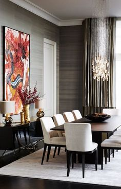 Dining room furniture ideas that are going to be one of the best dining room design sets of the year! Get inspired by these dining room lighting and furniture ideas! Elegant Dining Room, Luxury Dining Room, Dining Room Sets, Dining Room Design, Dining Tables, Modern Dining Rooms, Classic Dining Room, Dark Dining Rooms, Modern Dinning Room Ideas