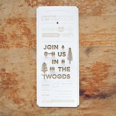 Punched out wedding invitations! Christine Srivongse & Ian Robert Collins