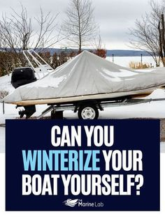 Yes, you can winterize your boat yourself. If you are a little bit handy, it is a great way to save money. #boatingtime #boatingday