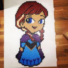 Anna Frozen hama beads by  o0heksen0o