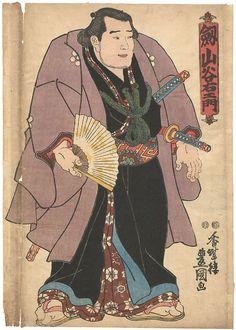 Sumo-e : Tsurugiyama Taniemon by Toyokuni III /  相撲絵 剣山谷右衛門 豊国三代