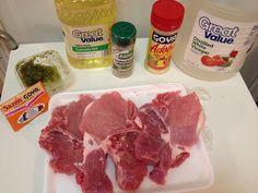 Chuleta Frita ( Fried Pork Chops) Recipe Below. Chuleta Frita Recipe ( Fried pork Recipe) Ingredients 1 Pack of pork chops 2 Table spoons of Sofrito 1 Table spoon of complete seasoning 1 Table spoon of Adobo 1 Pack of Sazón 1 Cup of vinegar 1 Tabl Honduran Recipes, Pork Chop Recipes, Mexican Food Recipes, Meat Recipes, Cooking Recipes, Comida Boricua, Boricua Recipes, Spanish Pork Chops, Fritas Recipe