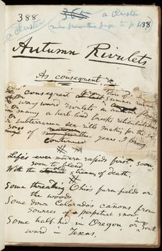 Whitman's revisions to Leaves of Grass  Via The Trent Collection of Whitmaniana, 1841-1947