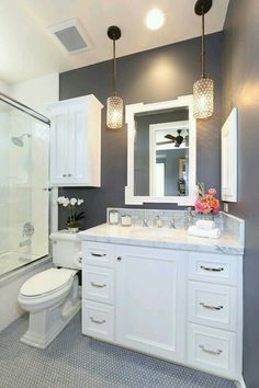 Bathroom Interior Design Ideas and Color Scheme plus flooring~ Pinterest: @claudiagabg