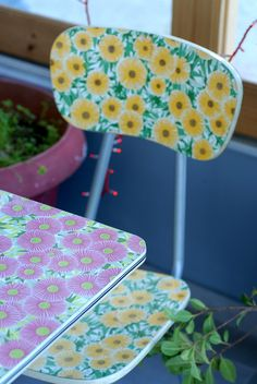 a post about an interesting place, floral formica table and chair