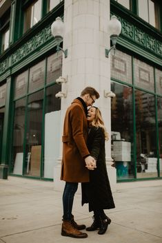 Loved this cute couple session in downtown Detroit! - Loved this cute couple session in downtown Detroit! City Engagement Photos, Engagement Photo Outfits, Engagement Photo Inspiration, Engagement Couple, Engagement Session, Couple Posing, Couple Shoot, Couple Style, Couple Goals