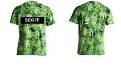 URBAN CREWNECKS : Leg It Marijuana T-Shirt