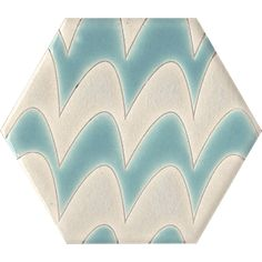 From the Sisters Collection Squiggles Caribbean Breeze,Designed by Susanne Kibak Redfield and Erin Adams at Tango Tile