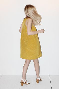 No.6 Trellis Yoke Dress in Yellow Astrological Print